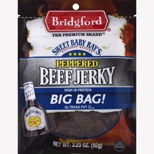 Bridgford Sweet Baby Ray's Peppered Beef Jerky