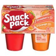 Snack Pack Strawberry Orange Gelatin Cups