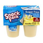 Snack Pack Sugar Free Vanilla Pudding Cups