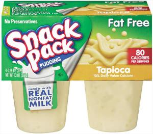 Snack Pack Fat Free Tapioca Pudding Cups