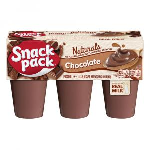 Snack Pack Naturals Chocolate Pudding