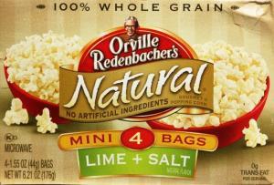Orville Redenbacher's Natural Lime & Salt Mini Bags Popcorn