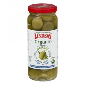 Lindsay Organic Green Olives Stuffed with Garlic
