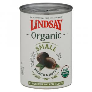 Lindsay Organic Small Black Ripe Pitted Olives