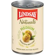 Lindsay Naturals Green Ripe Medium Pitted Olives