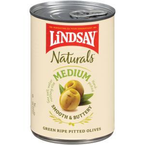 Lindsay Naturals Green Ripe Medium Pitted Olives