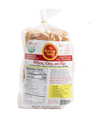 Olde Craft Bakery Organic Wheat, Oats and Flax Bread