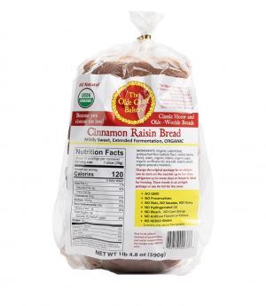 Olde Craft Bakery Organic Cinnamon Raisin Bread