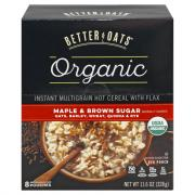 Better Oats Organic Maple Brown Hot Cereal