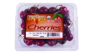 Organic Clamshell Cherries