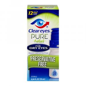 Clear Eyes Pure Relief for Dry Eyes