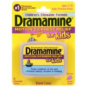 Dramamine Chewable Kids Grape Tablets