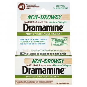 Dramamine Naturals Non Drowsy Capsules with Natural Ginger