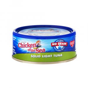 Chicken Of The Sea No Drain Solid Light Tuna