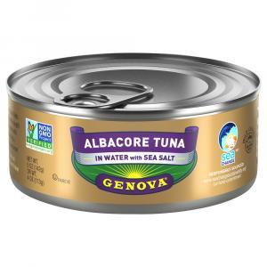 Genova Albacore Tuna In Water With Sea Salt