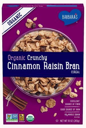 Barbara's Organic Cinnamon Raisin Bran Crunch