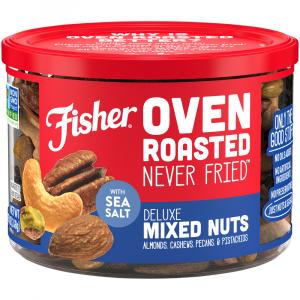 Fisher Oven Roasted Deluxe Mixed Nuts with Sea Salt