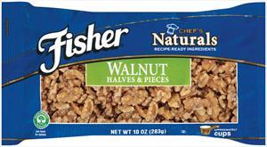 Fisher Chef's Naturals Shelled Walnut Halves & Pieces