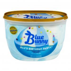 Blue Bunny Blu's Birthday Party Ice Cream