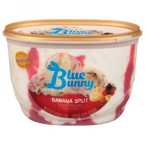Blue Bunny Banana Split Ice Cream