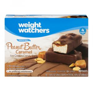 Weight Watchers Peanut Butter Caramel Ice Cream Candy Bars