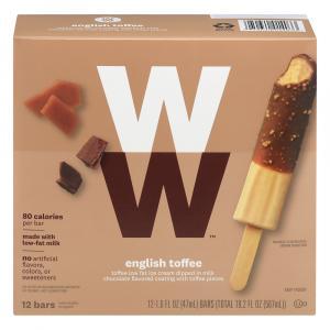 Weight Watchers English Toffee Crunch Ice Cream Bars