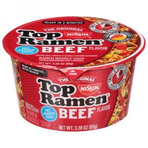 Nissin Top Ramen Bowl Beef