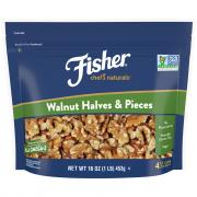 Fisher Chef's Naturals Walnuts Halves and Pieces