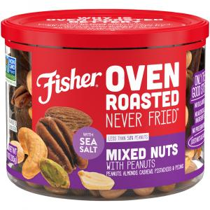 Fisher Oven Roasted Mixed Nuts with Peanuts Sea Salt