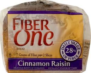 Fiber One Cinnamon Raisin Bread