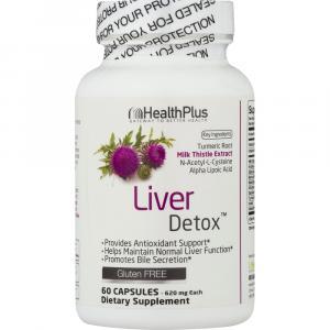 HealthPlus Liver Detox Dietary Supplement Capsules
