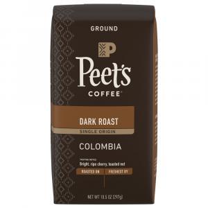 Peet's Colombia Dark Roast Single Origin Ground Coffee