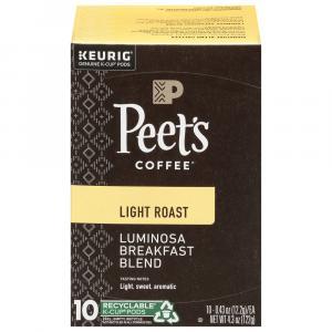 Peet's Coffee Columbia Luminosa Light Roast K-Cups