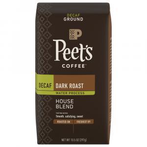 Peet's Coffee Decaf Dark Roast House Blend Ground Coffee