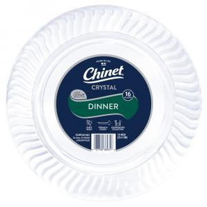 Chinet Cut Crystal 10-inch Plastic Plates