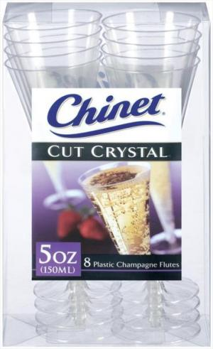 Chinet Cut Crystal Plastic Champagne Flutes