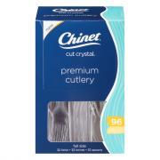 Chinet Cut Crystal Plastic Premium Cutlery