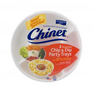 Chinet Chip & Dip Party Trays
