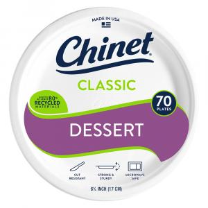 Chinet Classic White Appetizer And Dessert Plate