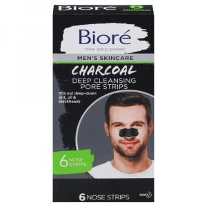 Biore Men's Deep Cleansing Charcoal Pore Strips