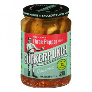 SuckerPunch Gourmet Pickles 3 Pepper Fire Spears