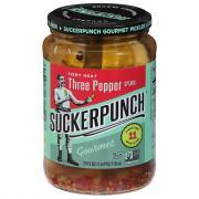 SuckerPunch Gourmet Pickles 3 Pepper Fire Spears