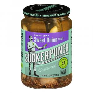 SuckerPunch Gourmet Pickles Sweet Onion Spears