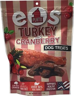Plato Eos Turkey with Cranberry Dog Treats