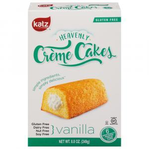 Katz Gluten Free Vanilla Heavenly Creme Cakes