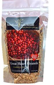 Boxford Bakehouse Organic Cranberry Walnut Granola