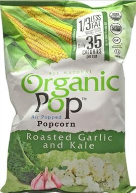 Organic Pop Organic Roasted Garlic and Kale Popcorn