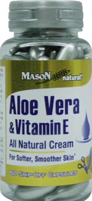 Mason Natural Aloe Vera & Vitamin E Capsules