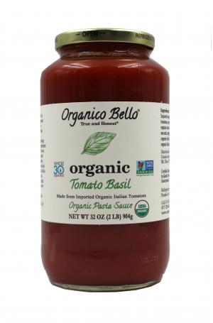 Organico Bello Organic Tomato Basil Pasta Sauce