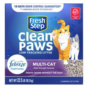 Fresh Step Febreze Multi-Cat Clean Paws Cat Litter